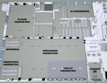 Liftfirma løfter nyt bilhus på plads